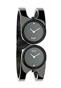 D&G Dolce&Gabbana Damen-Armbanduhr MIX IPBLK BLK DIALS WITH STONES BANGLE DW0357