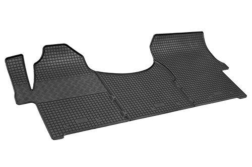 IlTappetoAuto® RIGUM902655 Tapis pour fourgon et campingcar sur mesure en caoutchouc véritable, inodore, noir