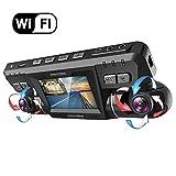 Dashcam,2160P UHD WiFi GPS Avant et Arriere Double 170 Degré Grand Angle Voiture Camera Surveillance avec 256GO Carte Micro SD,Sony WDR Vision Nocturne,ADAS,Loop Recording et Détection Mouvement