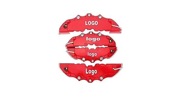 KQZLLL 4 st/ücke Bremssattel Abdeckungen ABS Kunststoff LKW 3D Rot N/ützlich Auto Universal Disc Vorne Hinten Auto Universal Kit