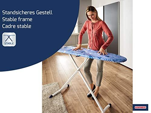 Leifheit Air Board M Solid Plus - Tabla de planchar de plástico, color azul/blanco