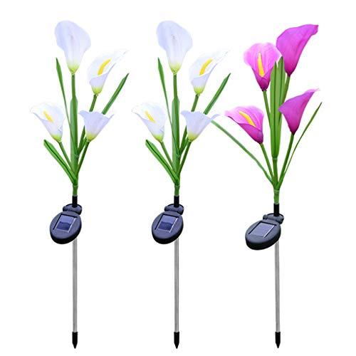 Solar Hufeisen Pflanze Blume Lampe Solarbetriebene Blume Outdoor Garden LED Dekorative (B) ()