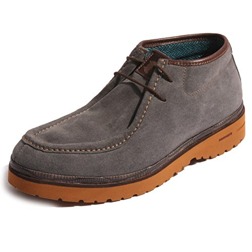 B0254 polacchino uomo BRIMARTS scarpa grigia suede shoes boots men [43]