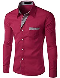ff36209315571 Amazon.es  cuadros blanco y negro - Rojo   Camisas casual   Camisas ...