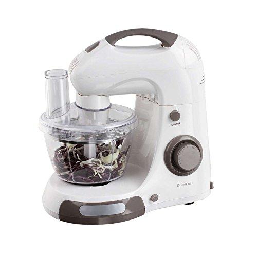 Robot de cocina con cuenco Acero Inoxidable 4L de 2L picadora–Amasadora amasadora batidora de mano con cuenco (500W, función turbo, varillas, ganchos para amasar, discos de acero inoxidable, Rojo)