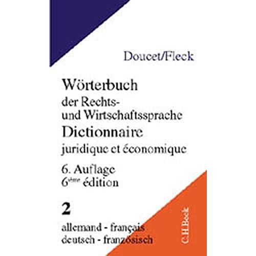 Dictionnaire juridique et economique allemand - français