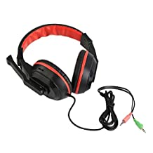 YUIK New 3.5mm Adjust`able game hoofdtelefoon Stereo Type Noise Cancelling Computer PC Gamer-headset met microfoon, rood