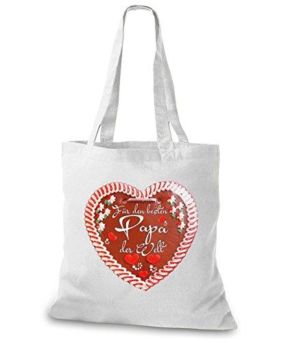 Stylobags Juta Borsa / Borsa Best Papa Gingerbread Heart White