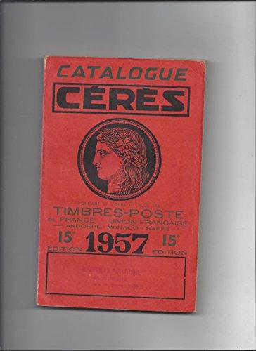 Catalogue ceres timbres poste 1957