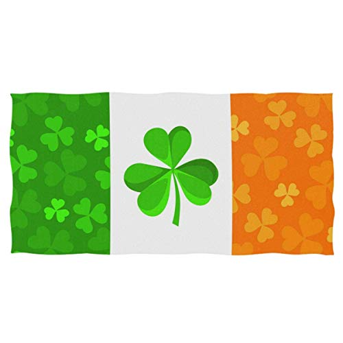 YOWAKi Lucky Shamrocks Hand Towels Ultra Soft Towel Patrick's Day Clovers Irish Flag Absorbent Hand Towel Guest Bath Towels Washcloth Multipurpose for Hand Face Gym Spa 12