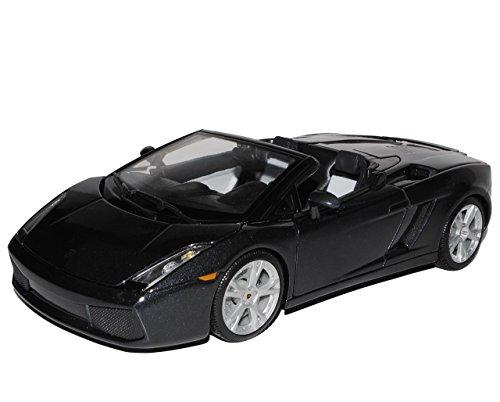 Bburago Lamborghini Gallardo Spyder Cabrio Schwarz 2003-2013 18-12016 18-12016 1/18 Modell Auto mit individiuellem Wunschkennzeichen