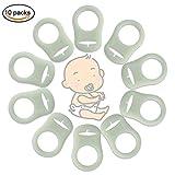 BBLIKE 10er Set Night Leuchtschnuller Silikon Schnuller,Adapter für Brustwarze ring,Naturkautschuk für Babys ab ersten Backenzahn