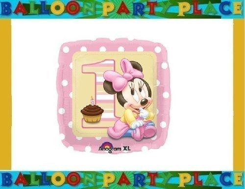 MINNIE MOUSE PINK WHITE POLKA DOT balloon 1st birthday BALLOON decoration disney by Lgp
