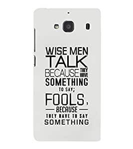 EPICCASE Wise Men Mobile Back Case Cover For Mi Redmi 2s (Designer Case)