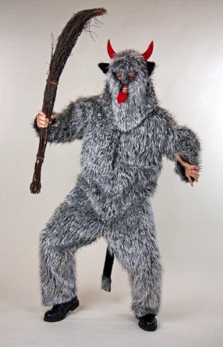 Krampus Kostüme (Kostüm für Erwachsene Set Teufelsmonster Overall und Maske)