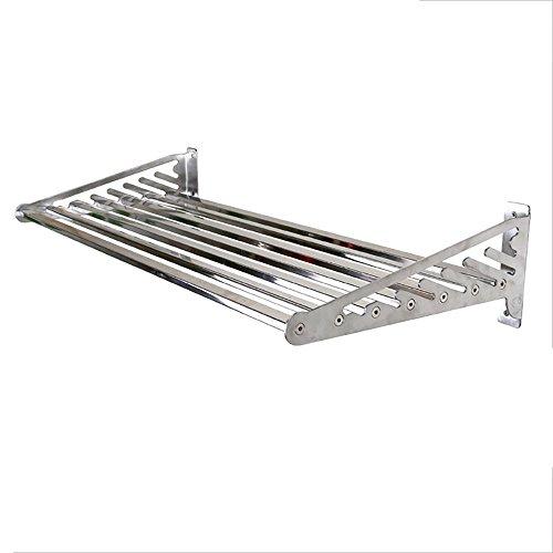 TYSM Regale Edelstahl Küchenregal, höhenverstellbar Mit Belastung 70 kg (Silber) (größe : 120CM)