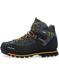 Gomnear Herren Wanderstiefel Trekking Schuhe Niedrige Oberseite Non slip Wildleder Wasserdicht Gehen Klettern Sneaker Brown-48