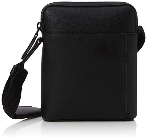 Kleine Hobo Black Handtaschen (Calvin Klein Herren Hi-profile Mini Reporter Schultertasche, Schwarz (Black), 5x21x17 cm)