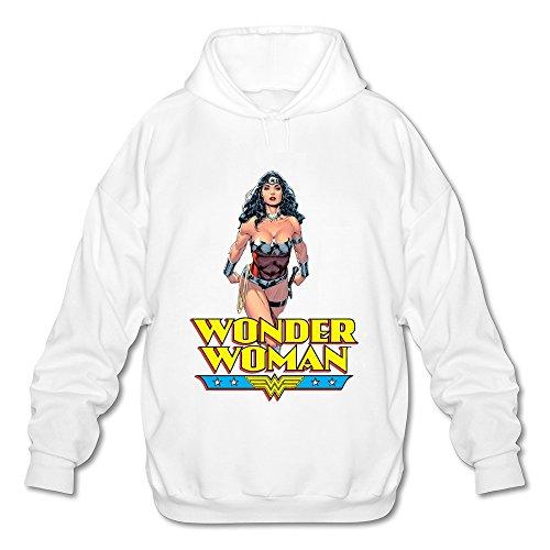 AOPO Wonder Woman Diana Prince Hombres de manga larga para sudadera con capucha/sudadera con capucha