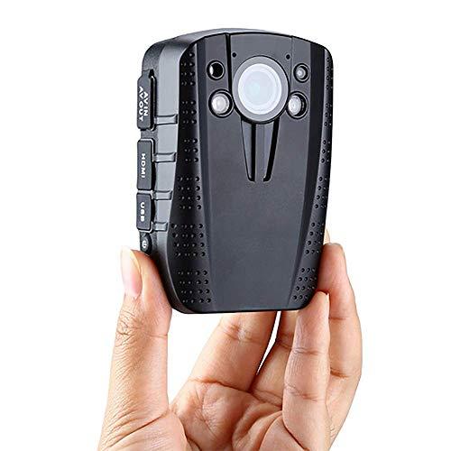 Xzhitasst 14MP HD 1296P Polizei Strafverfolgungs Audio Video Recorder Mini Nachtsicht 140 Grad Körper Kamera,Ausgestattet mit 16G-Speicherkarte, Modell HD31-G - Polizei-videorecorder