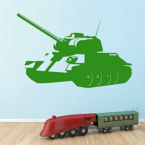 Onetotop decalcomanie da muro per carri armati ambientali militari in vinile fai da te boy room art mural decalcomanie per pareti decorazione domestica 2 57x88cm