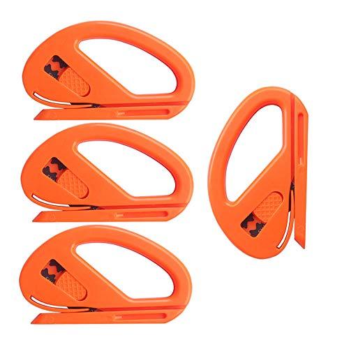 Gebildet Snitty Sicherheitsschneider Folienschneider Auto Vinyl Wrap Schneidwerkzeug Carbon Fiber Cutting Anwendung Messer,Packung mit 4