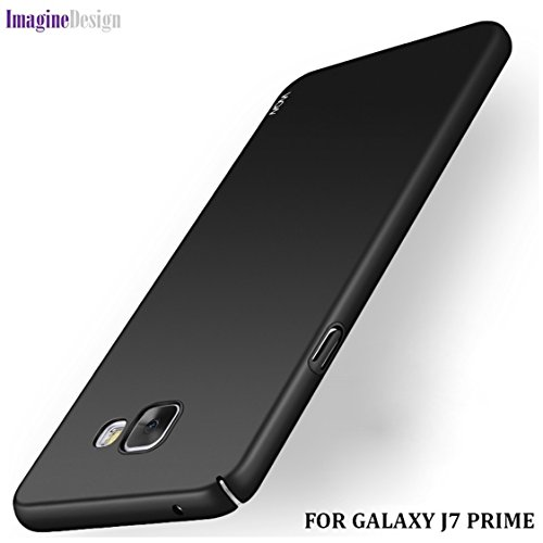 """Wow Imagine All Sides Protection """"360 Degree"""" Sleek Rubberised Matte Hard Case Back Cover For Samsung Galaxy J5 Prime - Pitch Black"""