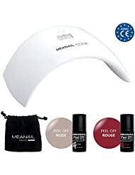 KIT PEEL OFF • Révolution Manucure Longue Tenue • Lampe UV/LED + 2 vernis Peel Off • ZERO Base ZERO Top Coat • Dépose Immédiate sans Remover! • Design et conception française MEANAIL® Paris