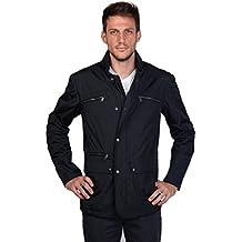 Geox para hombre italiano Patente transpirable cremallera y botón a presión Fasten chaqueta
