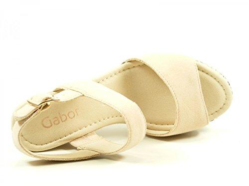 Sandali Gabor Damen 65.790.50 bianchi Skin Suede