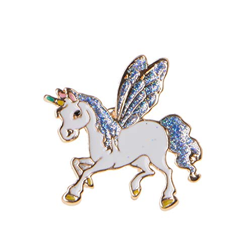 Kofun Brosche, Niedliche Kleine Pferd Einhorn Flügel Brosche Button Pins Cartoon Schmuck Geschenk Für Kinder Pegasus