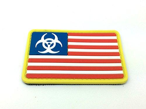 Biohazard USA Bandiera Patch PVC Toppa