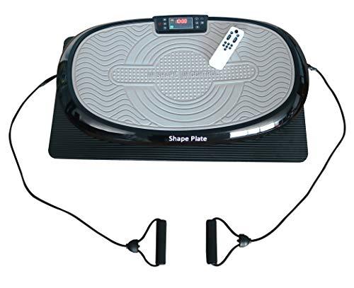 Shape Plate 4D Vibrationsplatte 7in1 mit 3D Vibration + Oszillation + lineare Vibration, 3 Motoren, Fernbedienung, Bodenmatte, platzsparend und leise