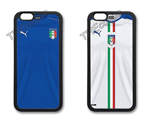 Coque silicone BUMPER souple IPHONE 6/6s - EURO 2016 football maillot drapeaux italie italy CASE tpu DESIGN + Film de protection INCLUS 2