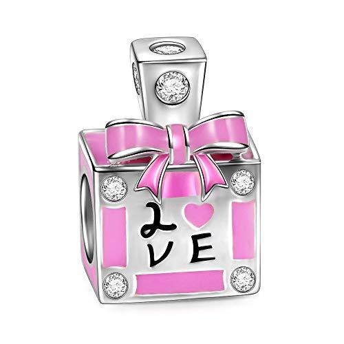 Ninaqueen profumo d'amore charm bead da donna argento sterling 925 per pandora charms bracciale gioielli regali per compleanno natale anniversario san valentino madre moglie figlia ragazza lei