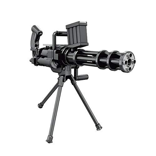 (Großes Gatling Schießen Wasserpistolen-Manuell Ununterbrochenes Launch Wasser Polymer Bullet Cap Pistole mit Stativ für Kinder Kinder Jungen (Schwarz))