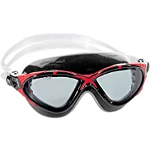 Cressi Saturn Crystal Anti Fog Premium Silicone Swimming Goggles - Mask (Made in Italy), Black/Red Smoked Lens by Cressi