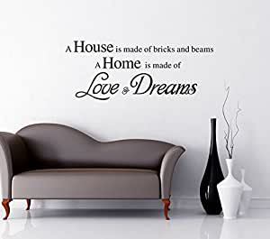 UberLyfe Pigmented Paint-Like Inspirational Quotation on Love Dreams Wall Sticker (Wall Covering Area: 57cm x 85cm) - WS-000839-PV