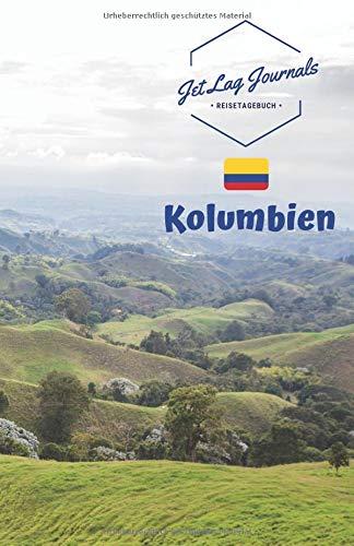 JetLagJournals • Reisetagebuch Kolumbien: Erinnerungsbuch zum Ausfüllen   Reisetagebuch zum Selberschreiben für den Kolumbien Urlaub