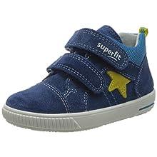 Superfit Baby Boys' Moppy Low-Top Sneakers, Blue (Blue/Gelb 80), 7.5 UK