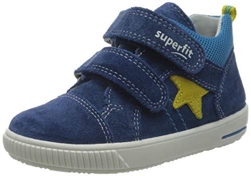 Superfit Baby Jungen Moppy Sneaker, Blau (Blau/Gelb 80), 26 EU