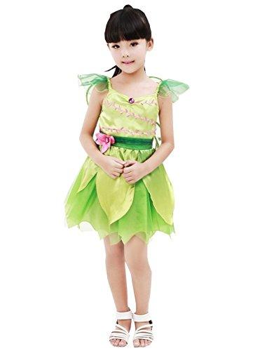 Witch Kind Fairy Kostüm - nihiug Disney Prinzessin Dress Pokemon Wunderbare Fairy Performance Kostüm Kinder Libelle Halloween Blume Fairy Kleidung Catwalk Kleidung,Green-140cm(9-10YearsOld)