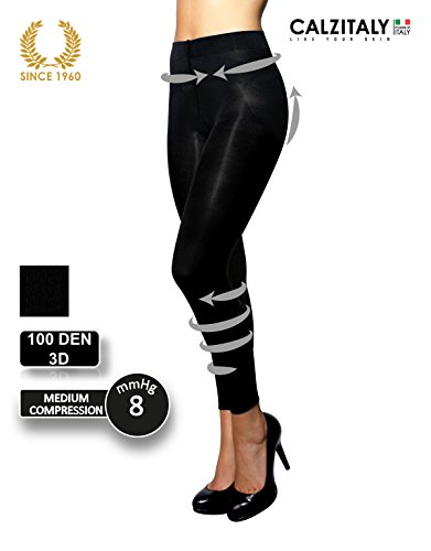PANTACOLLANT RIPOSANTE E MODELLANTE | COMPRESSIONE MEDIA, SHAPER & PUSH UP | 100 DEN | NERO | S, M, L, XL | CALZETTERIA ITALIANA | (L)