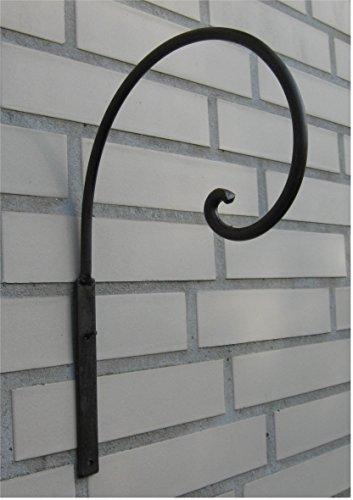 Haken Wandhaken für Blumenampel *Metall / Eisen antikbraun* ca. 30 x 20 cm, Landhaus