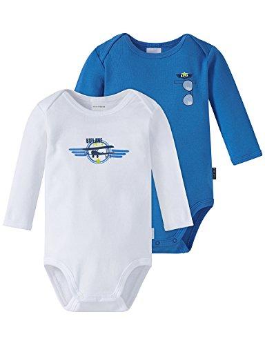 Schiesser Baby-Jungen Body Multipack 2pack Bodies 1/1, 2er Pack, Mehrfarbig (Sortiert 1 901), 62...