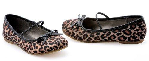 Ellie Shoes 212548 Leopard Ballerinas Kind Schuhe - Braun - Medium - 13-1