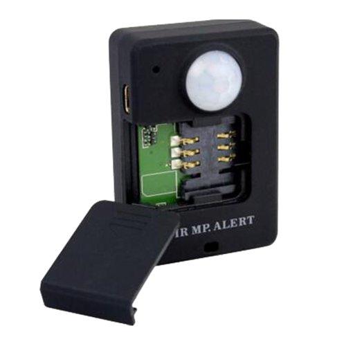 TOOGOO(R) Wireless PIR MP. Infrarot-Sensor Bewegungsmelder GSM Alarm Fernbedienung Alarm Schwarz