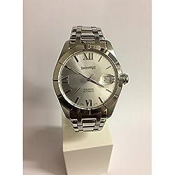 Clock Eberhard acquadate 41115Breaker Steel quandrante Silver Steel Strap
