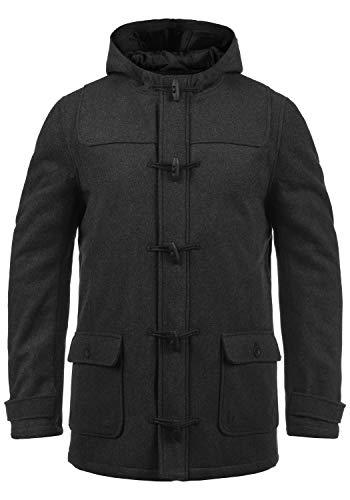 !Solid Wummer Herren Winter Mantel Wollmantel Winterjacke im Dufflecoat Stil mit Kapuze, Größe:XXL, Farbe:Dark Grey Melange (8288)