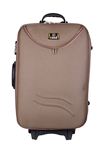United Bag HALF MOON Expandable Trolley Bag - Medium(Brown) UTB036-AA  available at amazon for Rs.1899